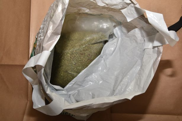Spice seized at an address as part of the Northumbria Police investigation.