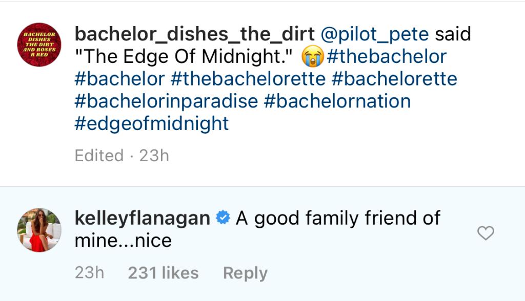 Kelley Flanagan Shades Peter Weber, Victoria Justice Friendship