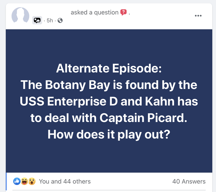 The question that started it: