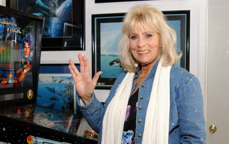 Grace Lee Whitney attends the VIP Open House at the Light Speed Fine Arts gallery December 08, 2001 in Laguna Hills, CA.