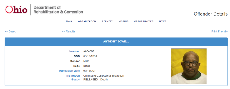 anthony sowell prison record